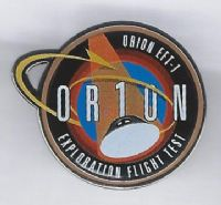 New NASA Space Program Orion Exploration Flight Test 1 Lapel Pin